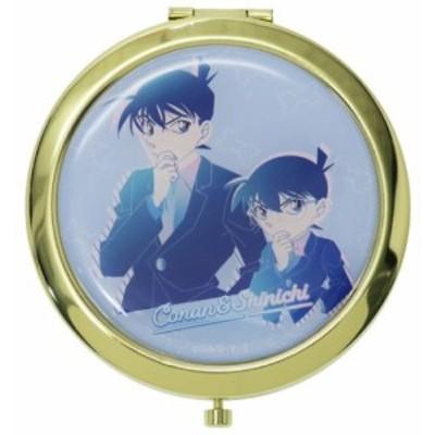 名探偵コナン 手鏡 W コンパクトミラー コナン & 新一 ルミエシリーズ アニメキャラクター グッズ メール便可