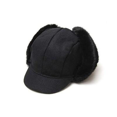 [KANGOL(カンゴール)] つば付き飛行帽 WOOL AVIATOR(M(57cm) ブラック)