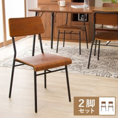【MONT/モント】 ダイニングチェア 2脚セット ダイニングセット チェア 椅子 いす 木製 ブルックリン ヴィンテージ インダストリアル(代