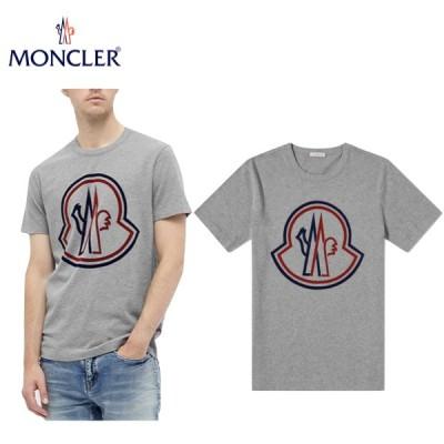 海外限定・日本未入荷モデル MONCLER Large Outline Logo Tee Mens Grey 2020SS モンクレール ラージ アウトライン ロゴ ティー グレー メンズ 2020年春夏