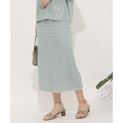 スカート クロシェニットスカート