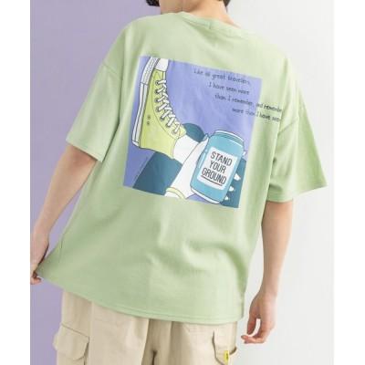 Rocky Monroe / 別注 ルーズシルエット イラスト グラフィックプリント 半袖ポンチ ビッグTee MEN トップス > Tシャツ/カットソー