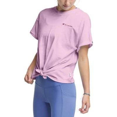 チャンピオン シャツ トップス レディース Champion Women's Tie-Front T-Shirt BelovedOrchid