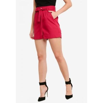 ザローラ ZALORA レディース ショートパンツ ボトムス・パンツ Co-Ord High Waist Shorts with Self Tie Maroon