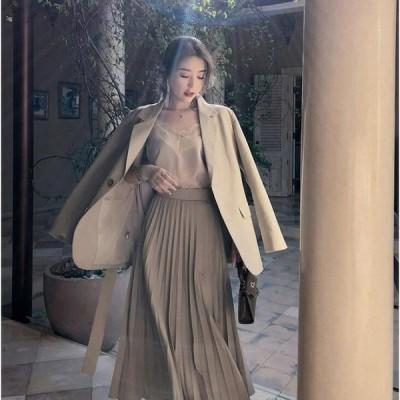 ブレザー スーツ スーツジャケット レディース 秋新作 長袖ブレザー カジュアルテーラードジャケット ゆったり 通勤 オシャレ きれいめ 韓国風 スカートセット