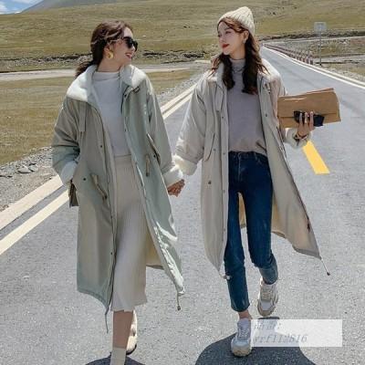 ダウンジャケット 2020 冬 新しい ダウンジャケット 綿の服 綿入れ コート 20代 服 ツーリング レディース 中綿 ラムウール ゆるい レディース 20代 40代 30代