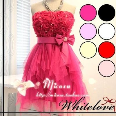 パーティードレス 8色 カラードレス ミニドレス カラー ミニ ドレス パーティー 結婚式 お呼ばれ 発表会 演奏会 ステージ コンサート 小さいサイズ XS
