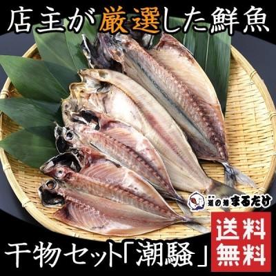 ギフト 干物 詰め合わせ 4枚 潮騒 干物セット 鯵 アジ 鯖 サバ 真ほっけ マホッケ ギフト 冷凍