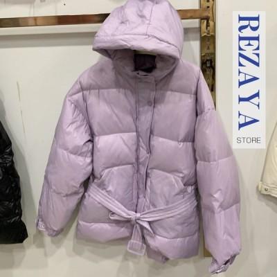 秋冬 ダウンコート レディース ダウンコート ショート レディース   ダウンジャケット フード付き 韓国風 ショート丈 コート アウター ダウン  軽量