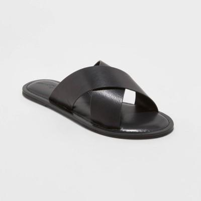 ユニバーサルスレッド Universal Thread レディース サンダル・ミュール シューズ・靴 Colene Crossband Slide Sandals - Black