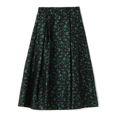 スカート ESTNATION / フラワージャガードタックフレアスカート