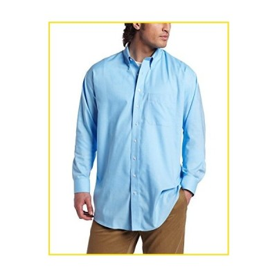 新品Cutter & Buck Men's Big-Tall Long Sleeve Epic Easy Care Nailshead Shirt, Atlas, 4X-Large/Tall並行輸入品