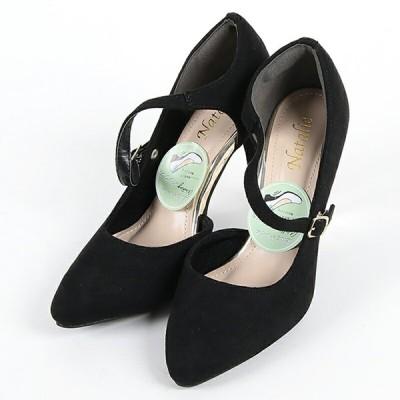 パンプス レディース 走れるキレイめパンプス 4333 ブラック BLACK スウェード調 L 靴 シューズ