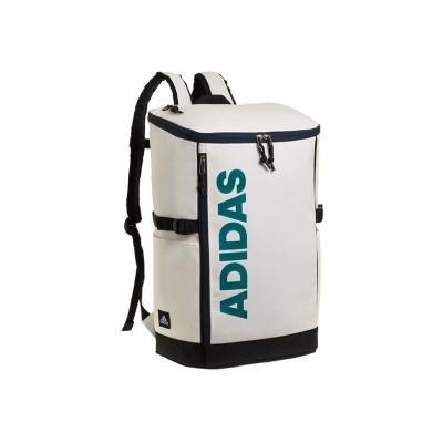 【カバンのセレクション】 アディダス リュック リュックサック 30L スクエア ボックス型 防水 メンズ レディース adidas 62792 ユニセックス ホワイト系1 フリー Bag&Luggage SELECTION