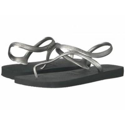 Havaianas ハワイアナス レディース 女性用 シューズ 靴 サンダル Flash Urban Flip Flops Black/Silver【送料無料】