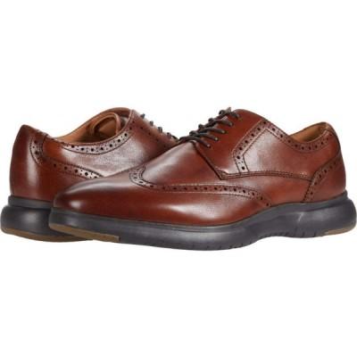 フローシャイム Florsheim メンズ シューズ・靴 ウイングチップ Flair Wing Tip Oxford Cognac Leather/Brown Sole