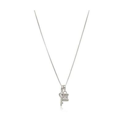 Elmas Jewelry スターリングシルバー 0.04カラット ラウンド (I-Jカラー I3クラリティ) ホワイトダイヤモンド ハート キーロッ