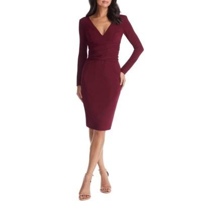 ドレスザポプレーション ワンピース トップス レディース Drew Long Sleeve Body-Con Dress Burgundy