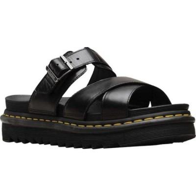ドクターマーチン Dr. Martens メンズ サンダル スライドサンダル シューズ・靴 Ryker Slide Sandal Black Brando Full Grain Waxy Leather