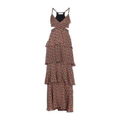 エー・エル・シー A.L.C. ロングワンピース&ドレス ブラック 2 シルク 100% ロングワンピース&ドレス