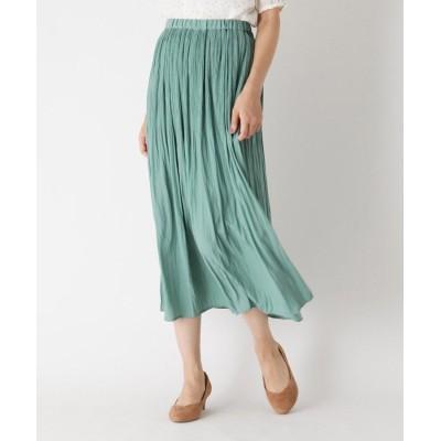 HusHusH(Ladies)(ハッシュアッシュ(レディース)) 【手洗いOK】マジョリカプリーツスカート