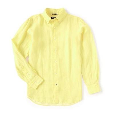 ダニエル クレミュ メンズ シャツ トップス Long-Sleeve Linen Woven Shirt