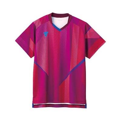 ヴィクタス(VICTAS) 卓球 全日本モデル ゲームシャツ V-GS203 男女兼用 JTTA公認 公式試合着用可 ピンク S 031487