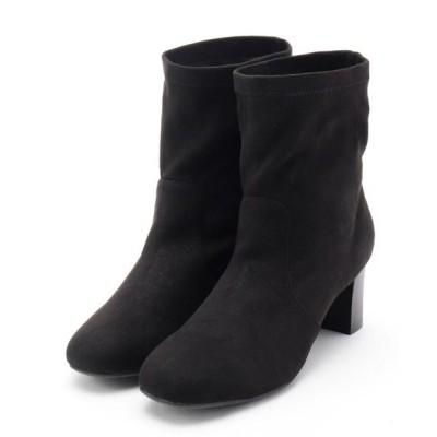 SHOO・LA・RUE/シューラルー ストレッチエコスエードブーツ ブラック(019) 25(22.5cm)