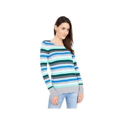 Vince Camuto Long Sleeve Multi Stripe Pullover Sweater レディース セーター Deep Evergreen