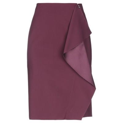 VERSACE ひざ丈スカート ディープパープル 44 レーヨン 74% / シルク 22% / ポリウレタン 4% ひざ丈スカート
