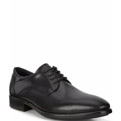 エコー メンズ ドレスシューズ シューズ Men's Citytray Lace-Up Plain Toe Dress Oxfords Black