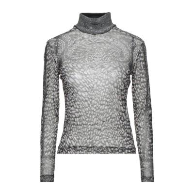 ANGELO MARANI T シャツ ブラック 40 ウール 60% / 金属繊維 22% / ナイロン 18% T シャツ