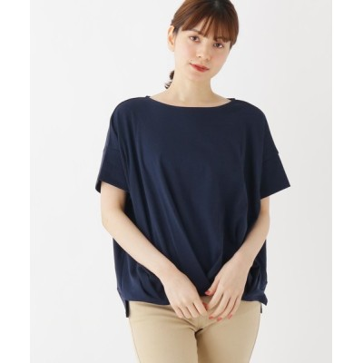 SHOO・LA・RUE / 【M-LL】ピマコットンクロスタックボートネックプルオーバー WOMEN トップス > Tシャツ/カットソー