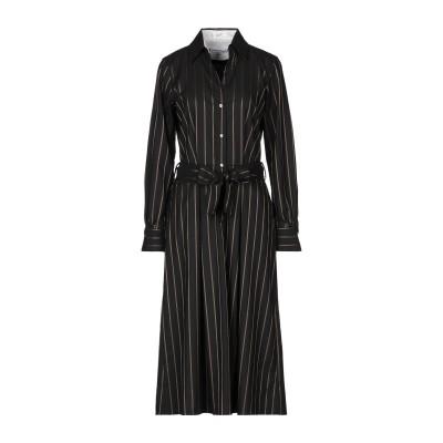 LE SARTE PETTEGOLE 7分丈ワンピース・ドレス ブラック 40 レーヨン 47% / 合成繊維 40% / バージンウール 13%