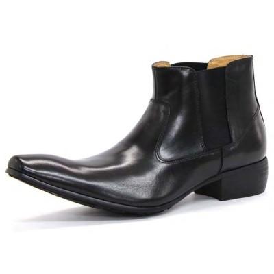 【全商品ポイント10倍】 SARABANDE サラバンド バッファローレザー サイドゴア ブーツ 27.0cm 44サイズ ブラック 1394-BK-44