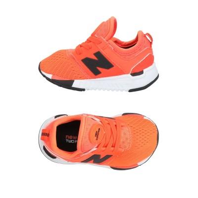 ニュー・バランス NEW BALANCE スニーカー&テニスシューズ(ローカット) オレンジ 5C 紡績繊維 スニーカー&テニスシューズ(ローカット)