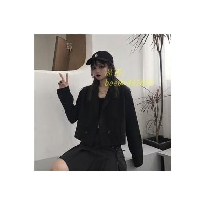 2020 合わせやすい ショート 春秋 韓国新作ファッション カジュアルフォーマル