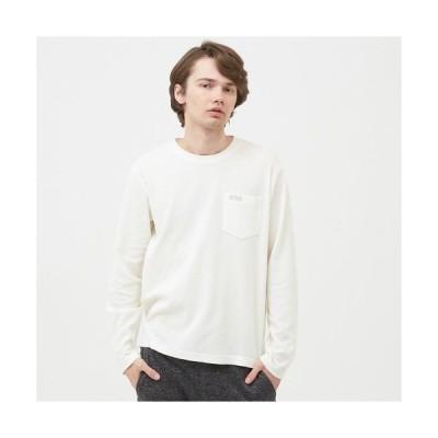 tシャツ Tシャツ 吸水速乾 ミニワッフル 長袖ポケTシャツ