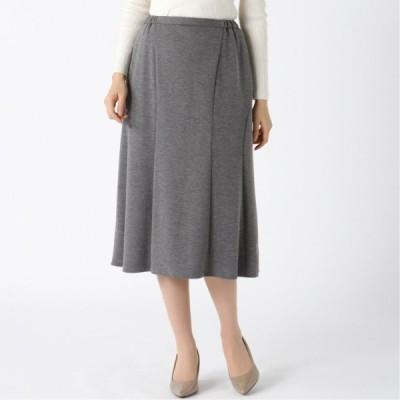 日本製★ポンチバックフレアースカート グレー M L LL 3L 4L 5L