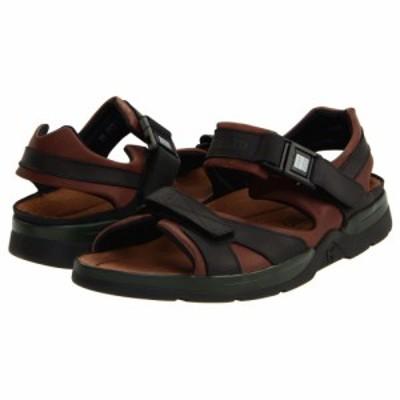 メフィスト Mephisto メンズ サンダル シューズ・靴 Shark Dark Brown/Black Waxy Leather