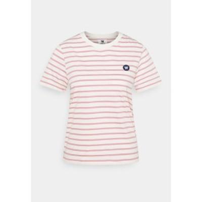 ウッド ウッド レディース Tシャツ トップス MIA  - Print T-shirt - white/rose white/rose
