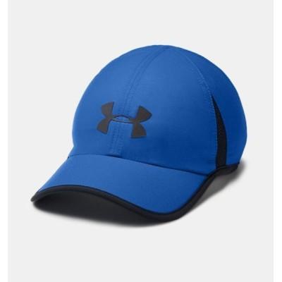 アンダーアーマー メンズ Under Armour Shadow 4.0 Run Cap ランニングキャップ 帽子 Blue Strike/Black