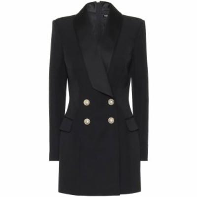 バルマン Balmain レディース パーティードレス ワンピース・ドレス Wool minidress Noir