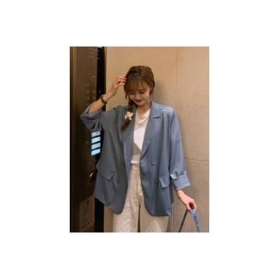 【送料無料】気質 長袖スーツ 女 夏 韓国風 デザイン 感 小 黒のスーツ ルース   346770_A63317-4799848