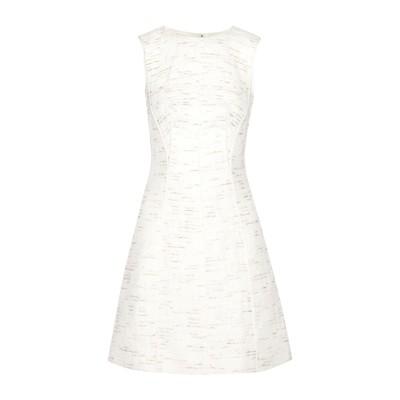 オスカー・デ・ラ・レンタ OSCAR DE LA RENTA ミニワンピース&ドレス ホワイト 6 コットン 65% / ポリエステル 28% /