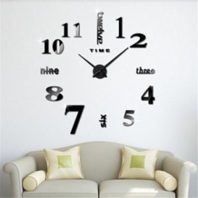 掛け時計 壁時計 手作り ウォールクロック ウォールステッカー ローマ数字と英語 シンプル 部屋装飾  簡単なおしゃれ時計