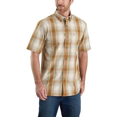(取寄)カーハート メンズ リラックスフィット ライトウェイト ショートスリーブ ボタンフロント プレイド シャツ Carhartt Men's Relaxed-Fit Lightweight