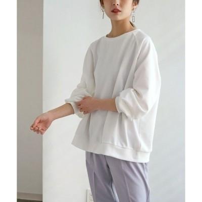 tシャツ Tシャツ 【HERCLOSET】バックリングドットボタンプルオーバー