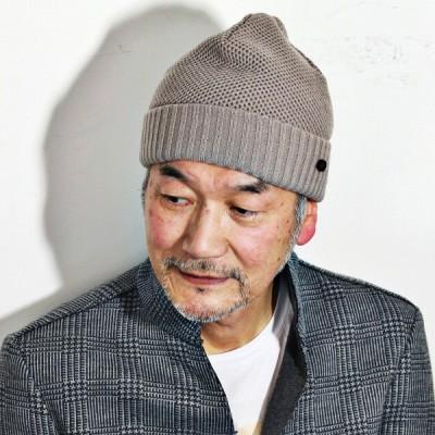 ダックス ニット帽 秋冬 日本製 ニットワッチ DAKS 折り返し ニット ワッチ メンズ レディース 帽子 フリーサイズ ベージュ