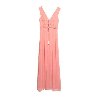 TRAFFIC PEOPLE ロングワンピース&ドレス ピンク XS ポリエステル 100% ロングワンピース&ドレス